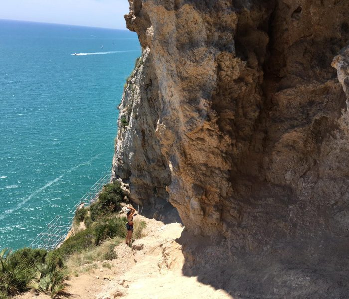 Rock climbing by the Mediterranean sea – Garraf Platja